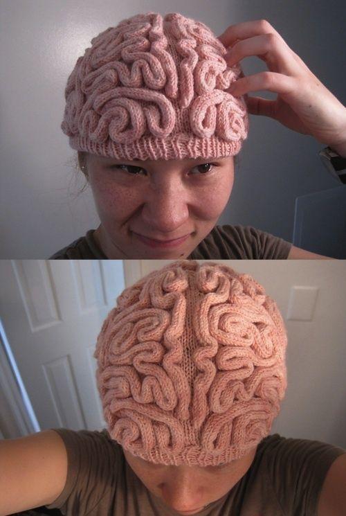Knit brain cap Crazy crochet Pinterest