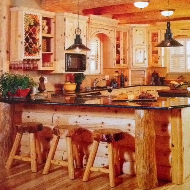 Log Cabin Kitchen Ideas Photo Decorating Inspiration
