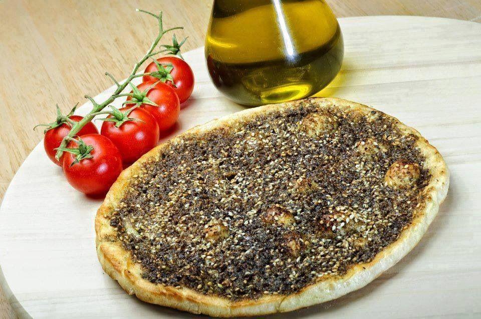 مناقيش زعتر | Middle Eastern Food | Pinterest