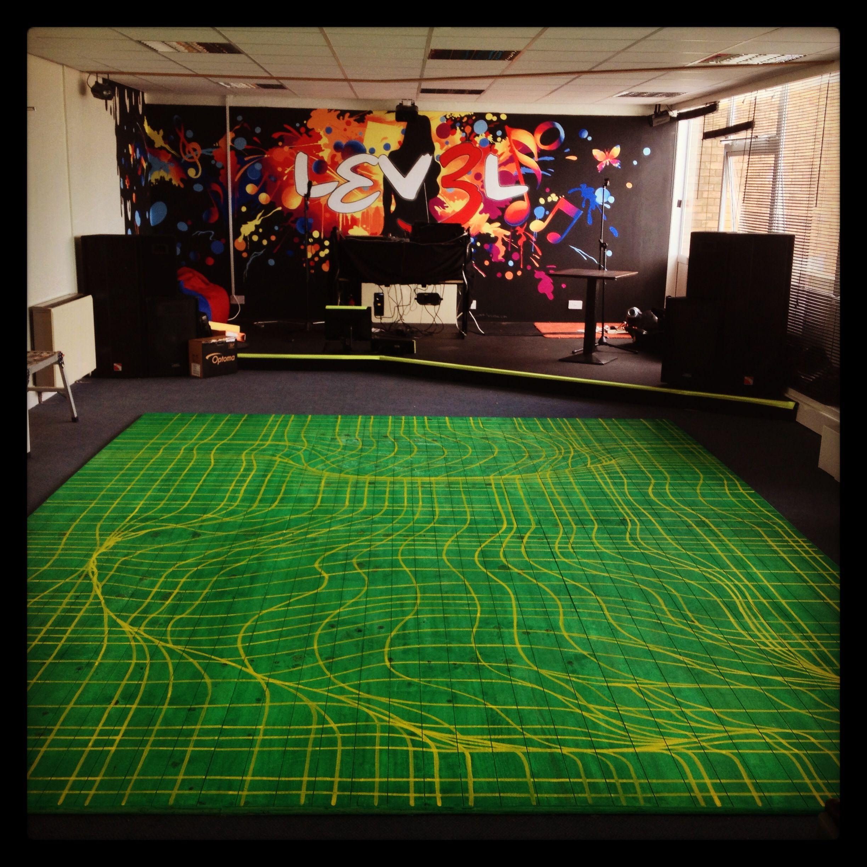 Lev3l nightclub dance floor big kids murals pinterest for 1234 get on dance floor