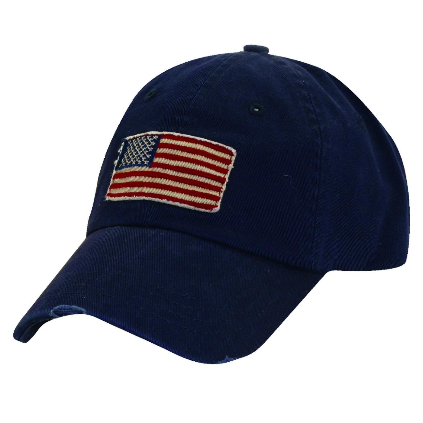 dorfman pacific cotton usa american flag baseball hat