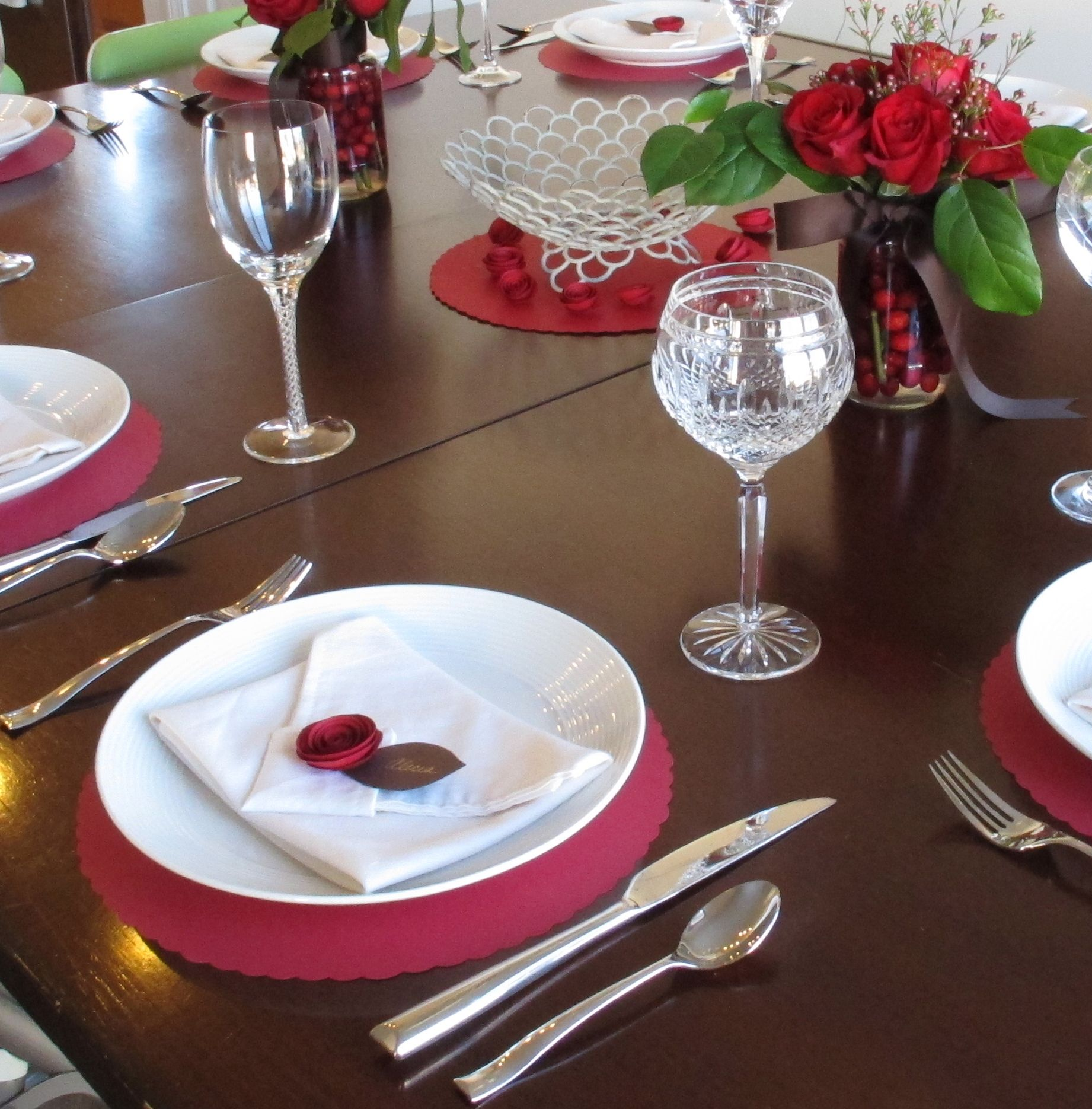 Valentine's Dinner Party Table Setting Come Dine With Me! Pintere . Full resolution  portraiture, nominally Width 1842 Height 1870 pixels, portraiture with #993250.