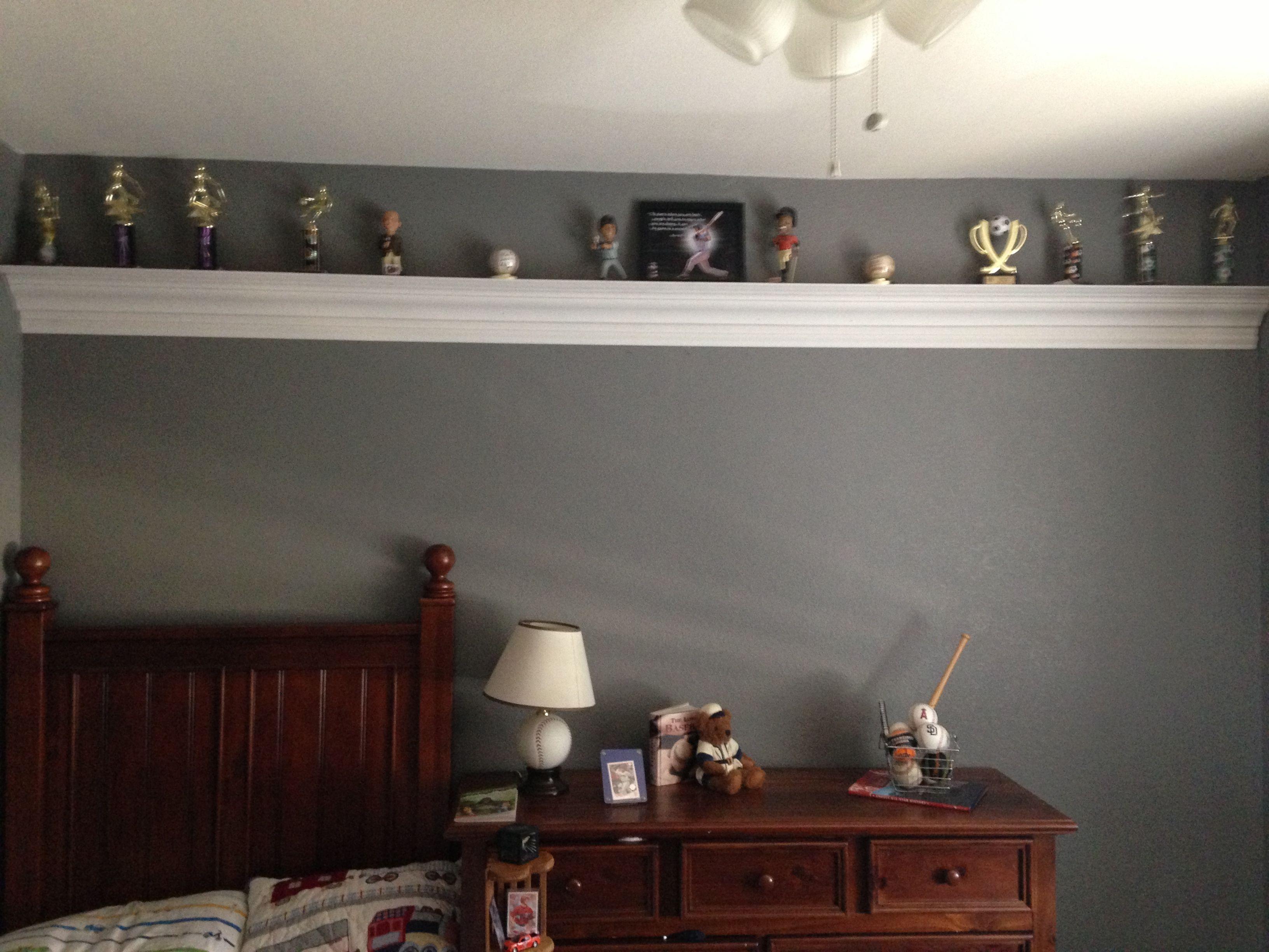 Bedroom Trophy Shelf