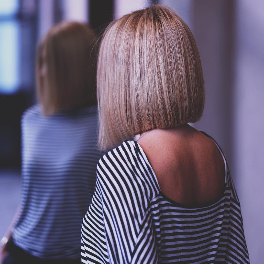 Фото сзади девушек с прической каре