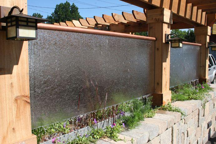 Стена на даче