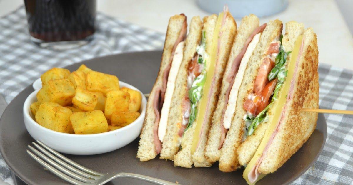 Sandwich Club De Pollo Estilo Vips Club Sandwich