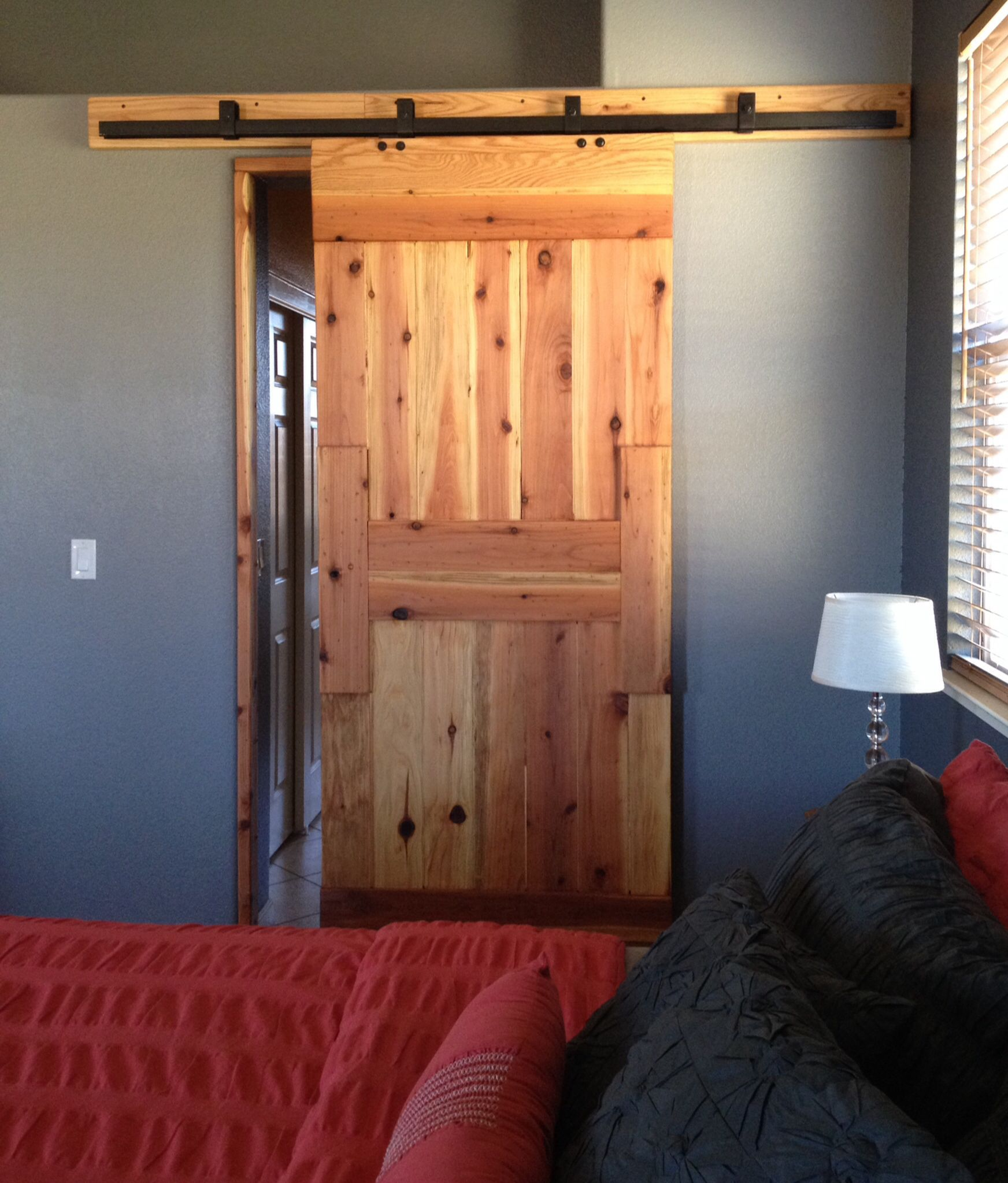 Custom interior barn door for the home pinterest for Inside barn doors
