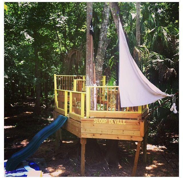 Pirate ship playground thomas pinterest - Pirate ship wooden playground ...