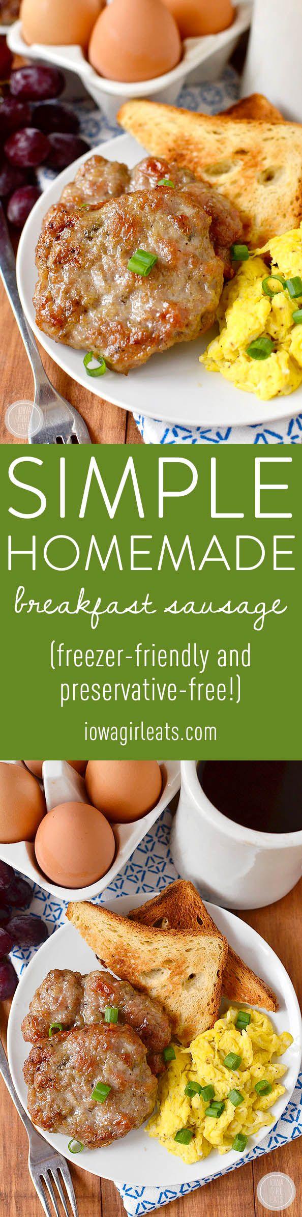 Old fashioned breakfast sausage recipe 1