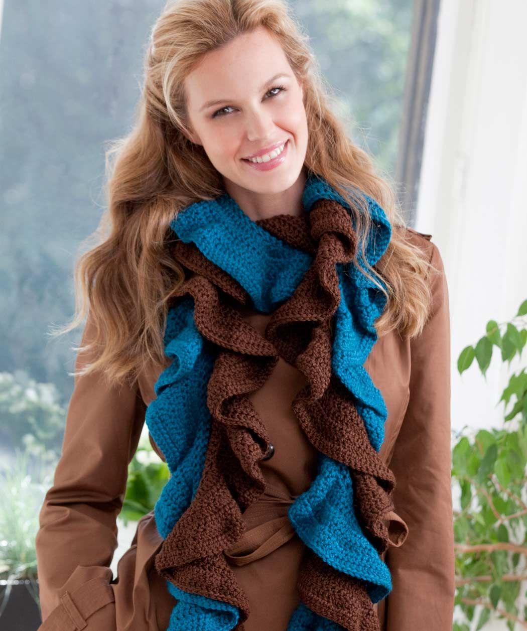 Вязанный шарфик двухцветный