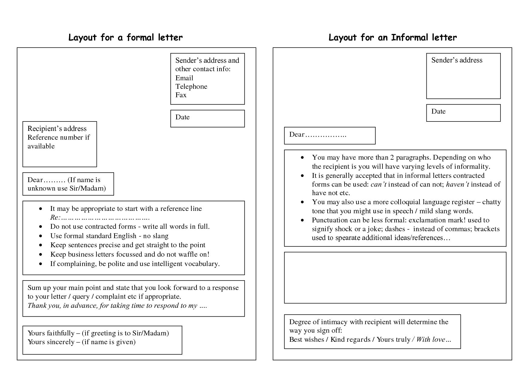 10 formal letter formats samples examples formats