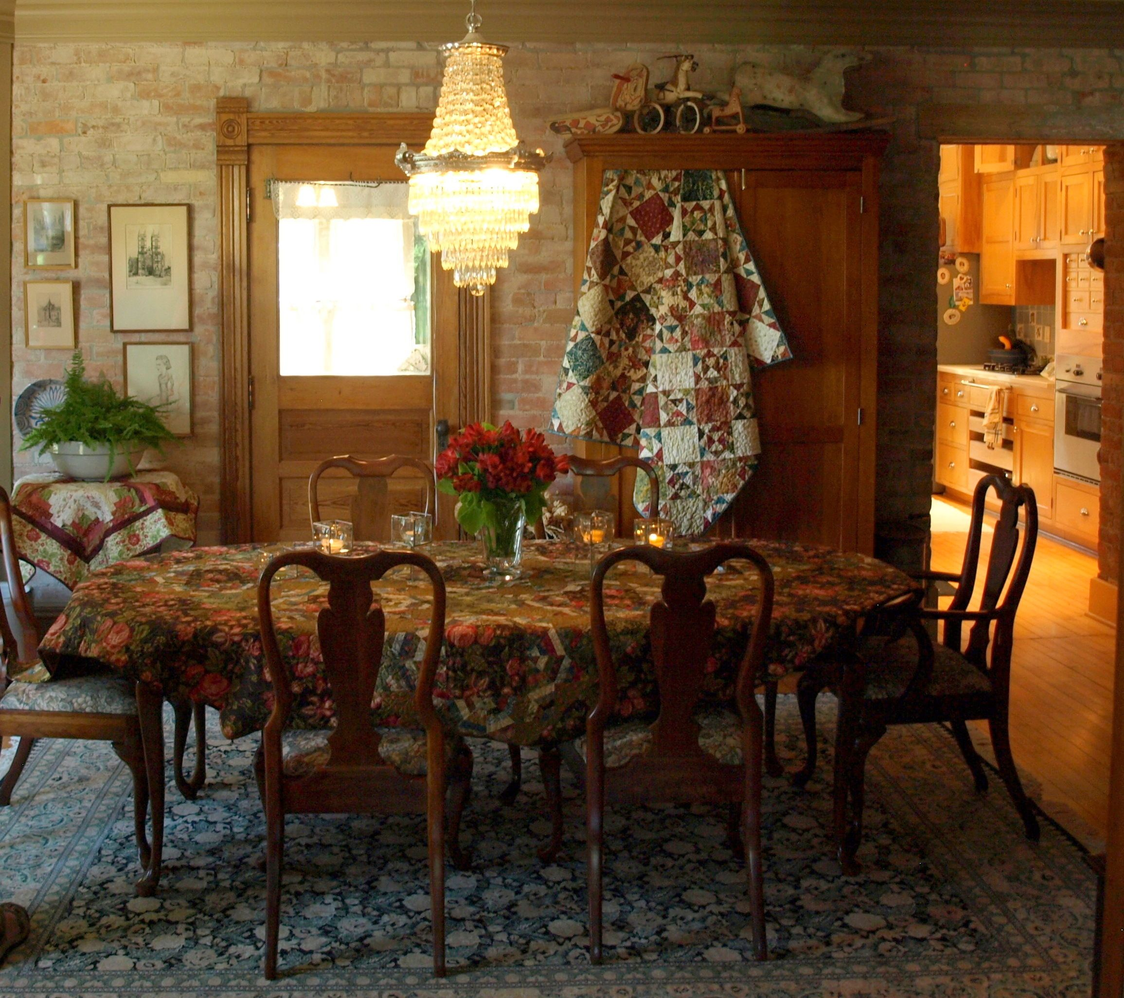 House tour dining room decorating with quilts pinterest for Dining room designs in sri lanka