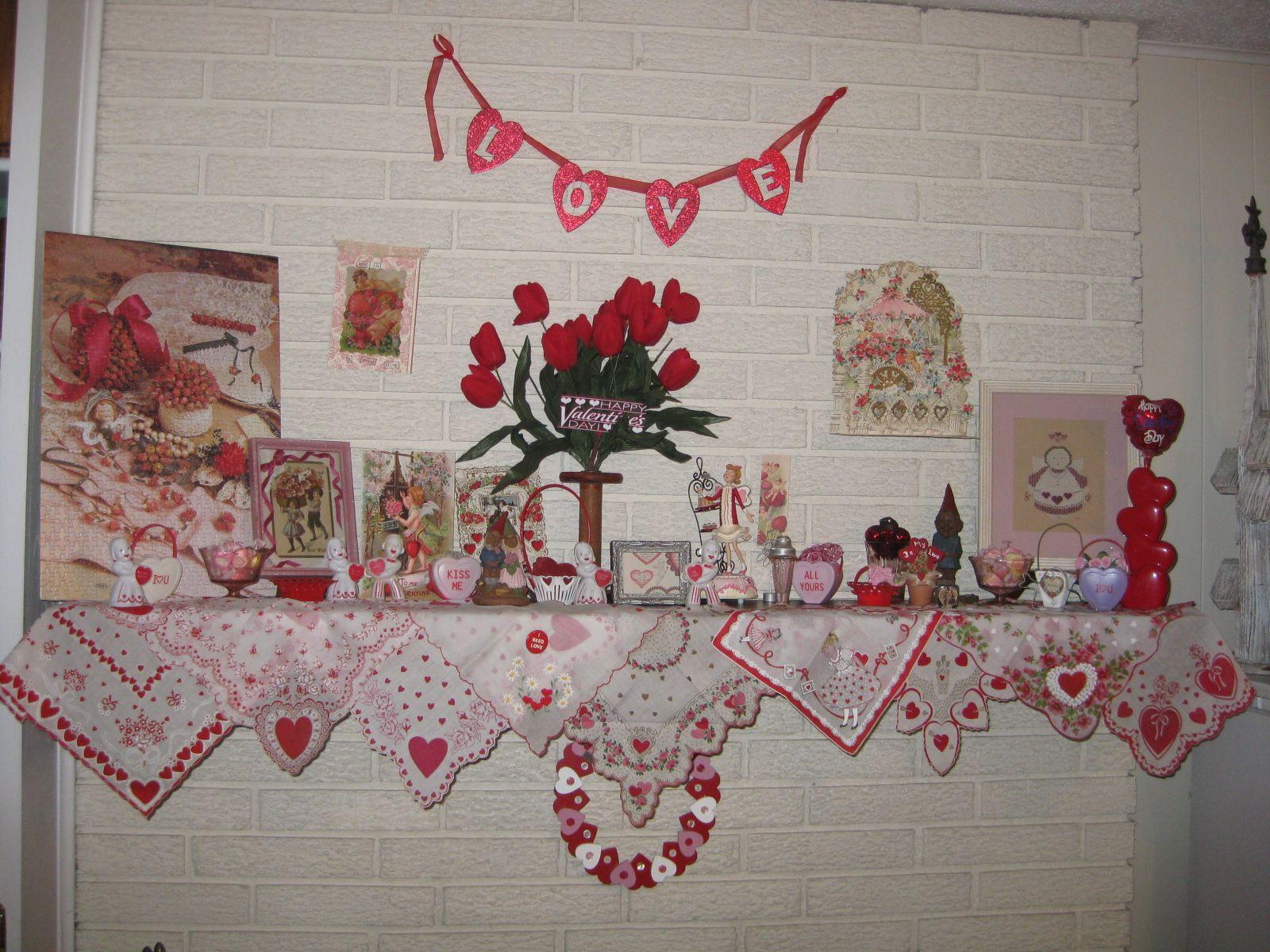 My Valentine Decor Valentine Ideas Pinterest