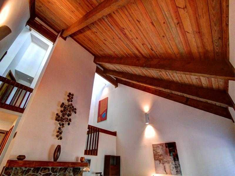 Vaulted wood beam ceiling there 39 s no place like home for Wood vaulted ceiling
