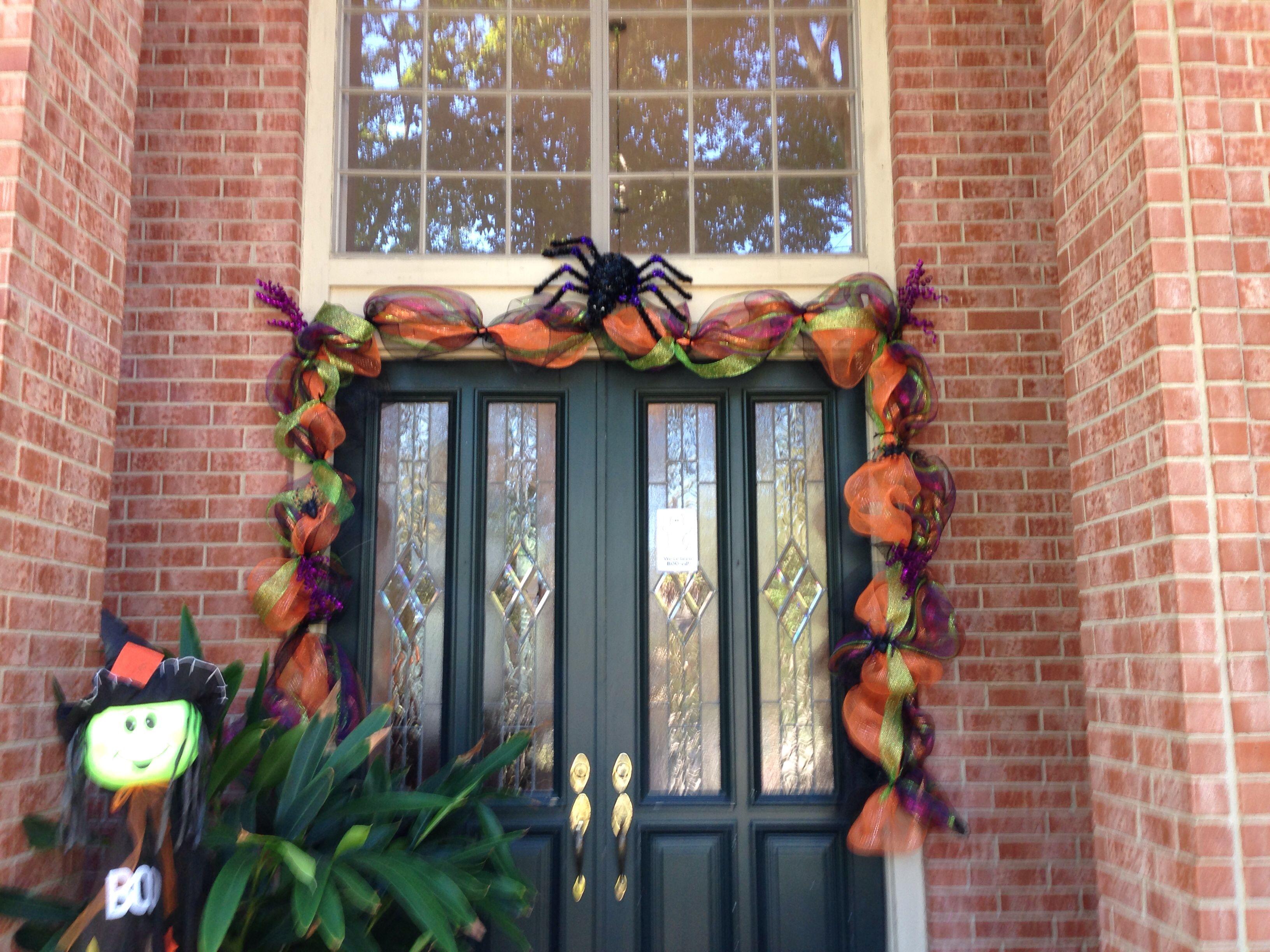 Halloween deco mesh garland christmas pinterest for Halloween girlande