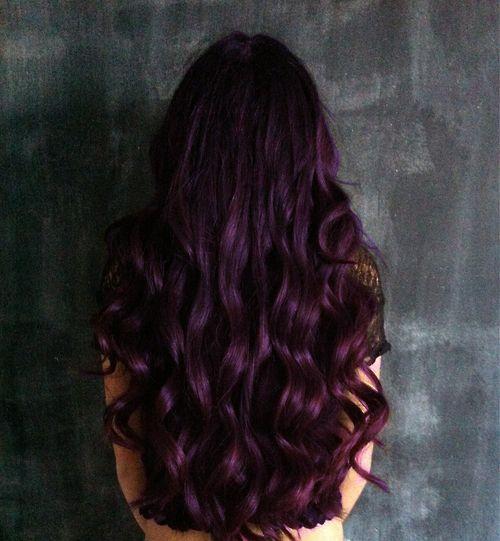 ... Eggplant Hair But Dark Purples Fineas Long As It | Dark Brown Hairs