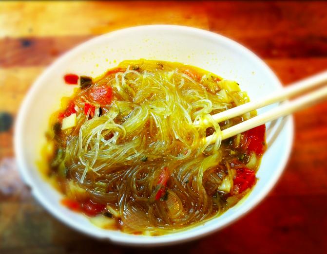 spicy vegetable noodle soup! | Warming Soups ♥ | Pinterest