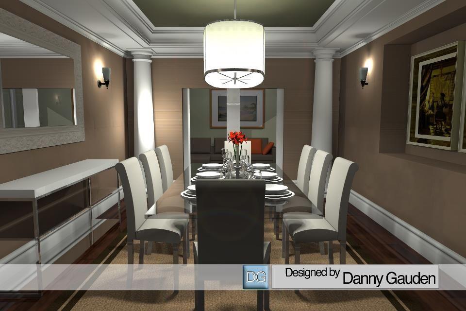 Dining room design sketchup interior design cad pinterest for Sketchup room layout