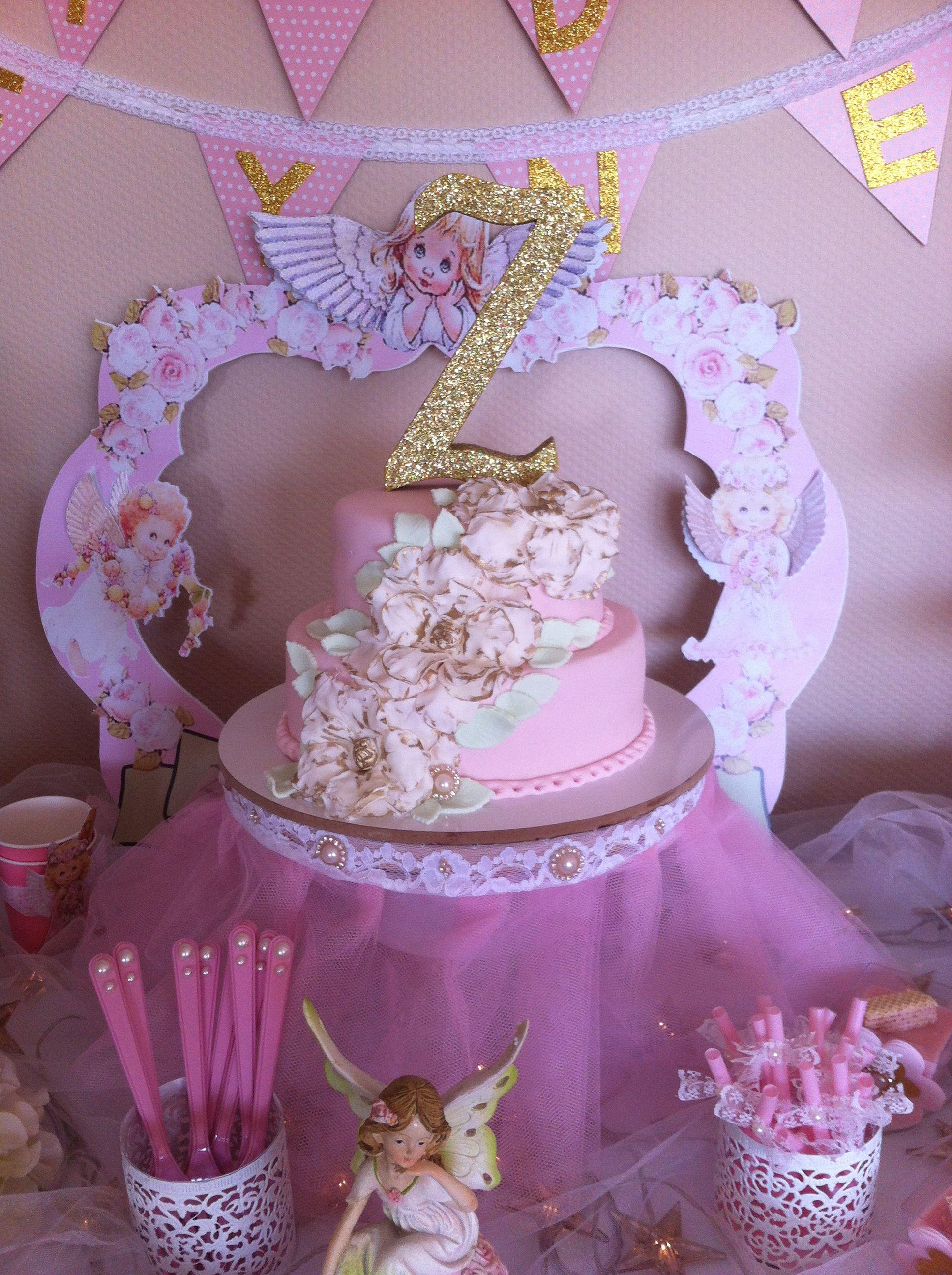 Angel birthday party cake  Angel Birthday  Pinterest