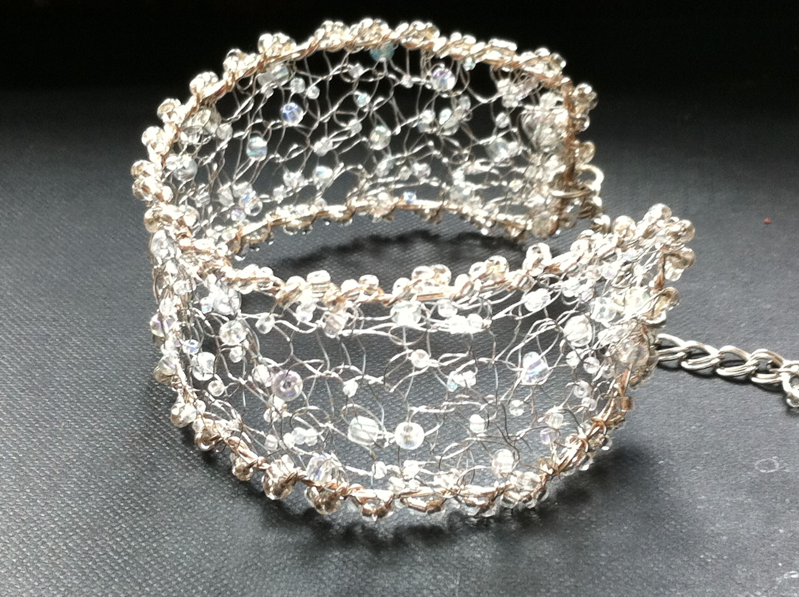 Crochet Wire : crochet wire bracelet DIY jewelry Pinterest