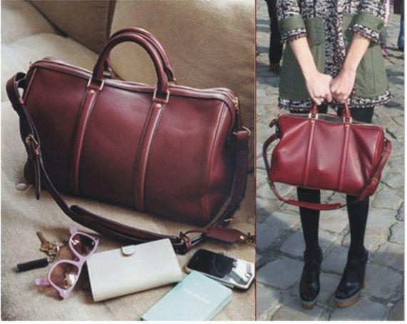 Модный цвет кожаных сумок