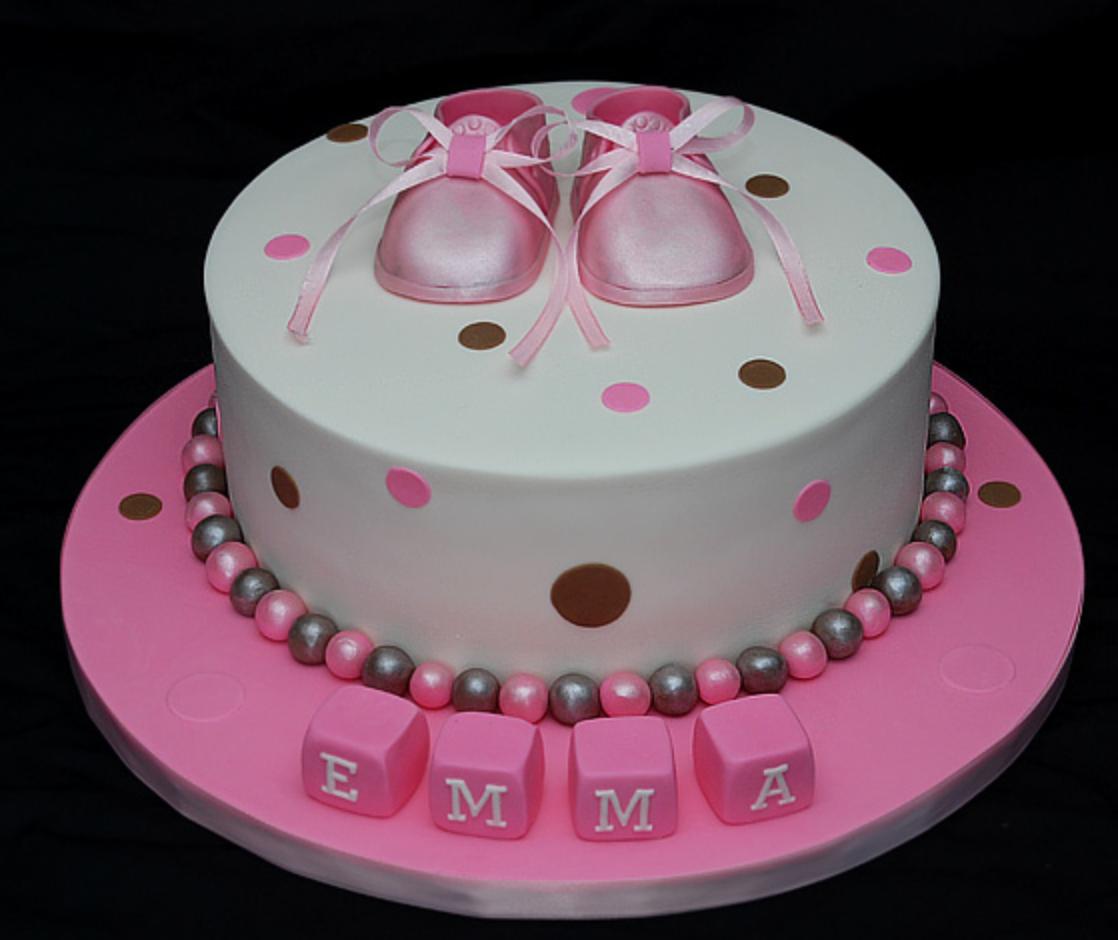 baby shower fondant cakes