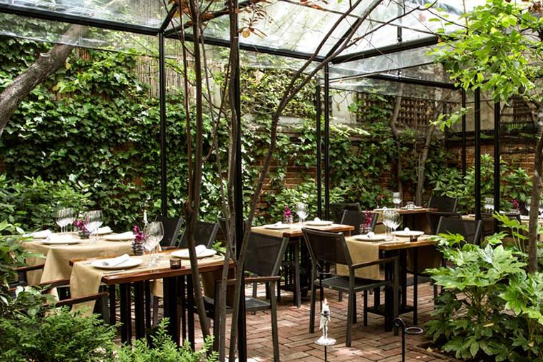 Iroco (Salamanca) - patio restaurante Madrid