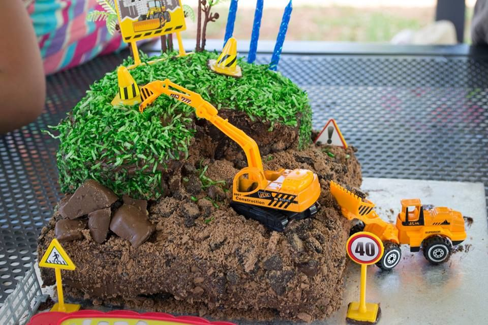 digger cake Party ideas Pinterest