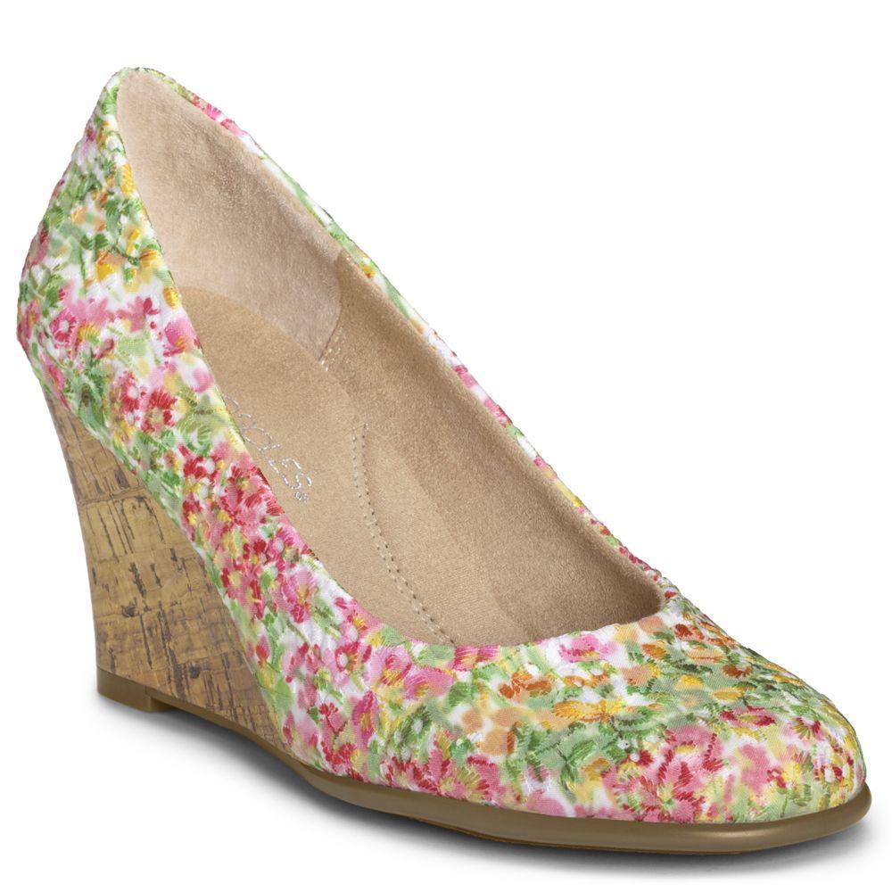 aerosoles plum tree floral wedge shoes