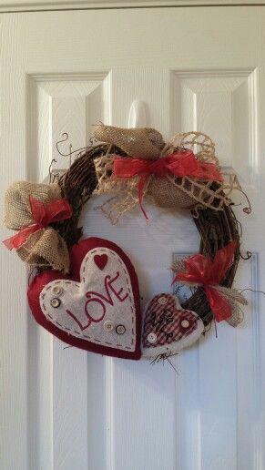 valentine's day grapevine wreaths