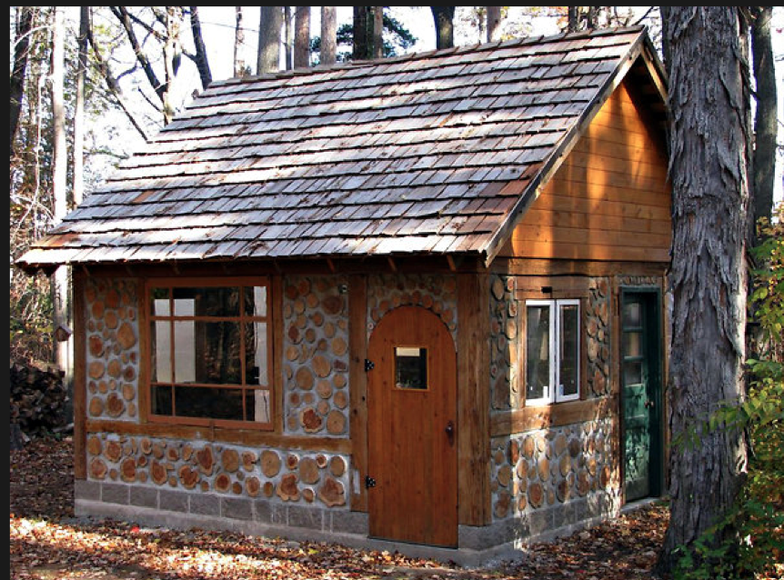 A Cordwood Built House Welcome To The Lake Pinterest
