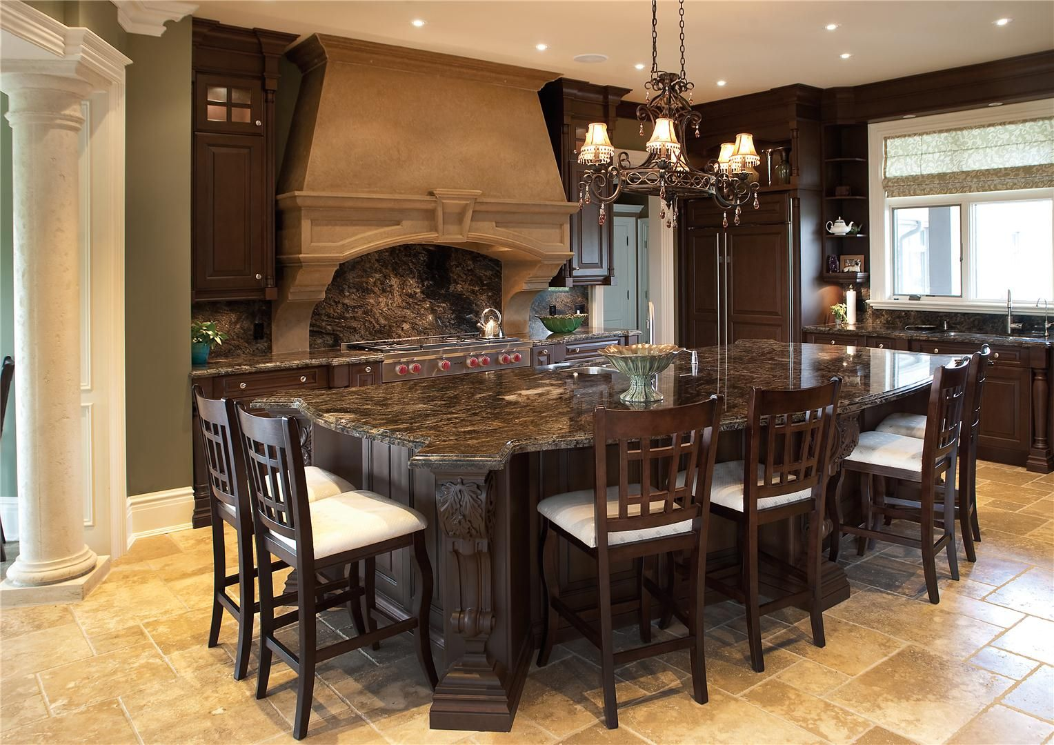 Kitchen Fireplace For Cooking Ovens