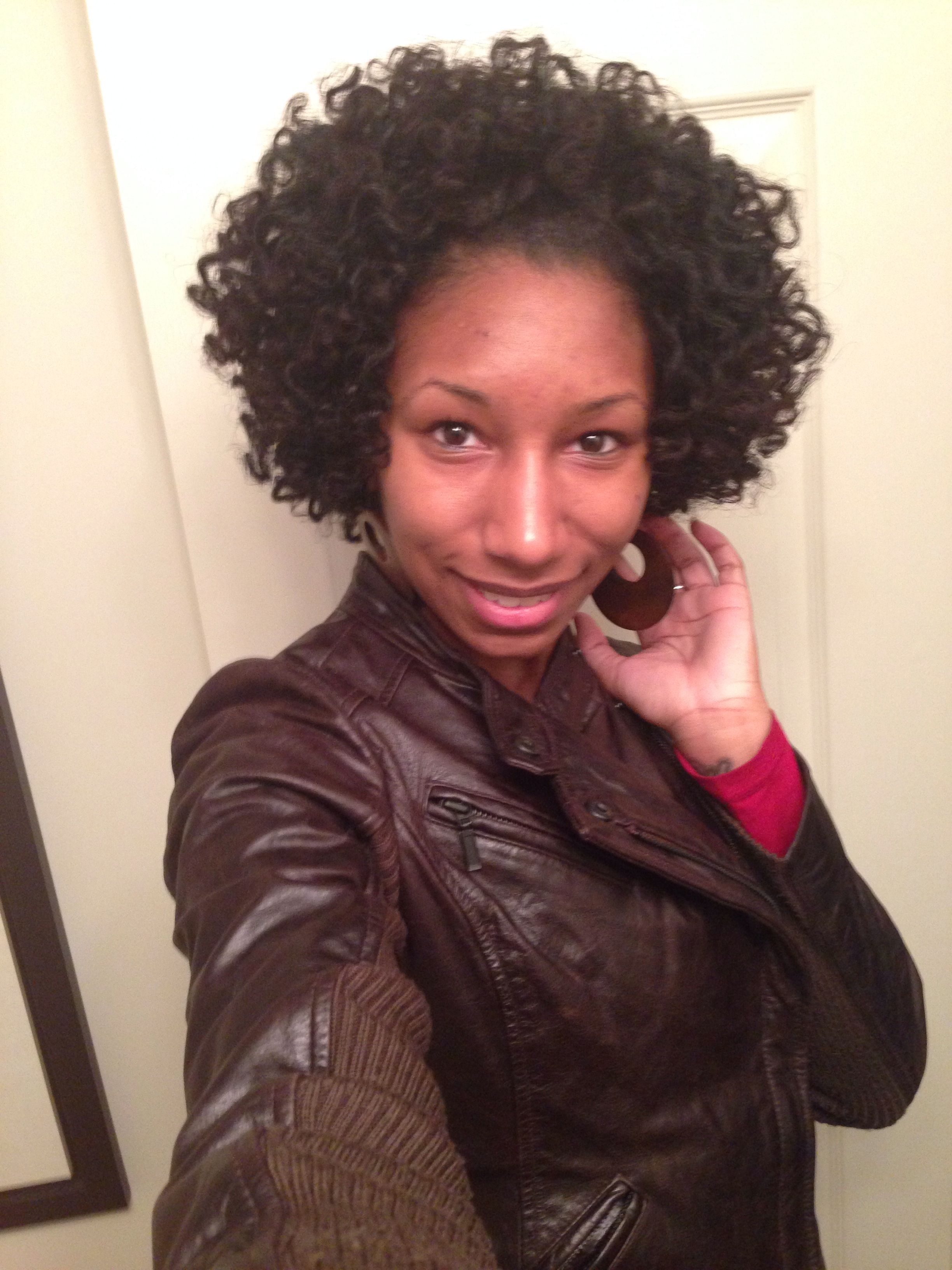 Bantu Knots On Short Wet Natural Hair