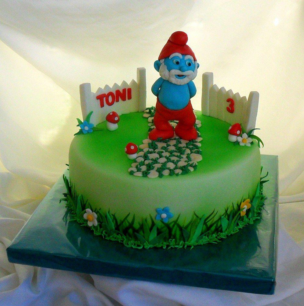 Images Of Papa Birthday Cake : Papa Smurf cake Cake designs Pinterest