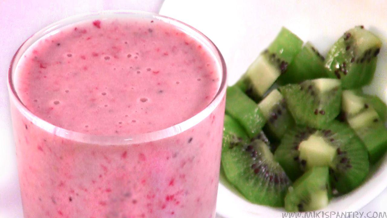 Kiwi Strawberry Smoothie | Magazine Cut Outs | Pinterest