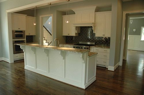 kitchen w raised bar island for the home pinterest