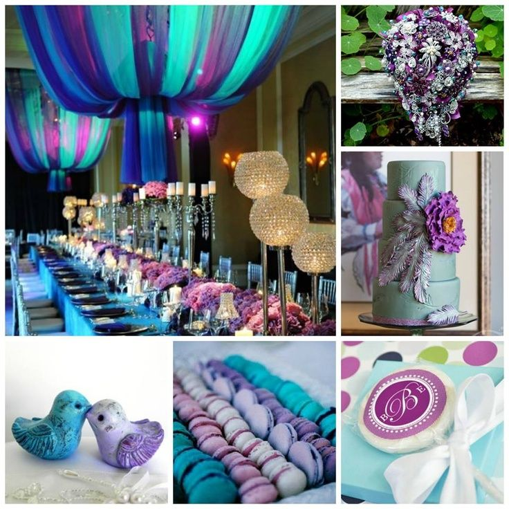 Teal and purple design