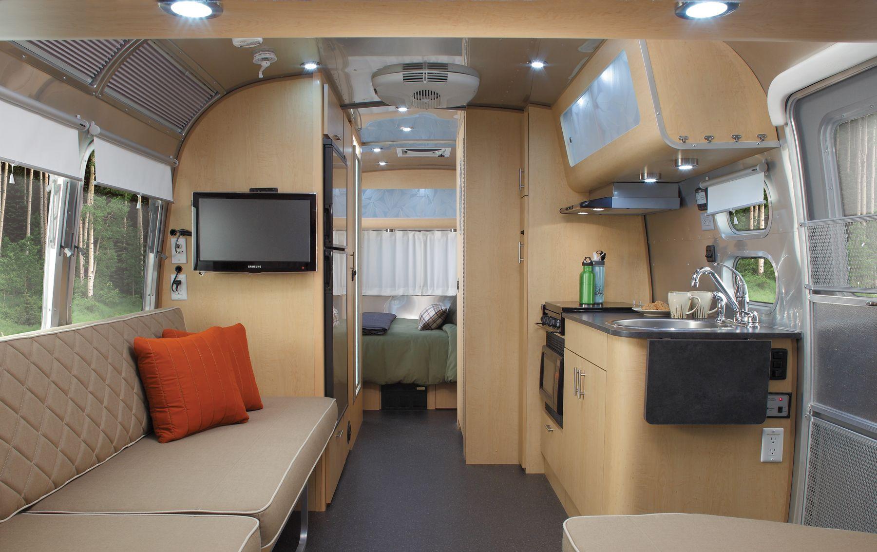 eddie bauer airstream interior view travel trailers