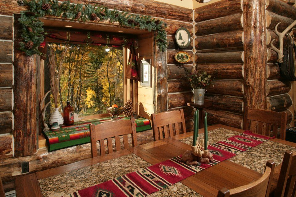 Log Cabin Rustic Living Pinterest