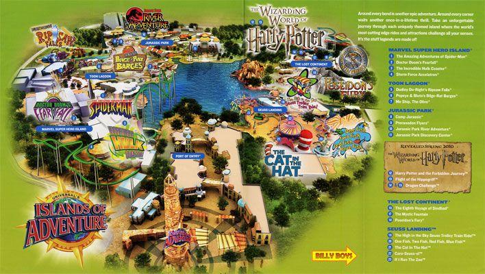 Mapofislandsofadventures Universal Studios Park Map