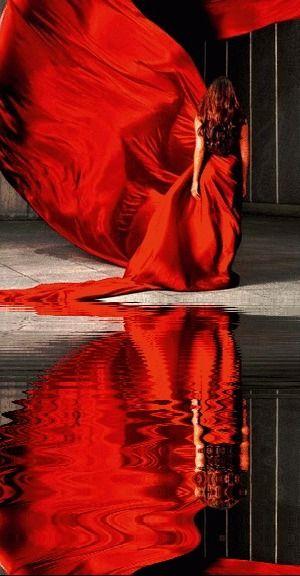 Women in red...