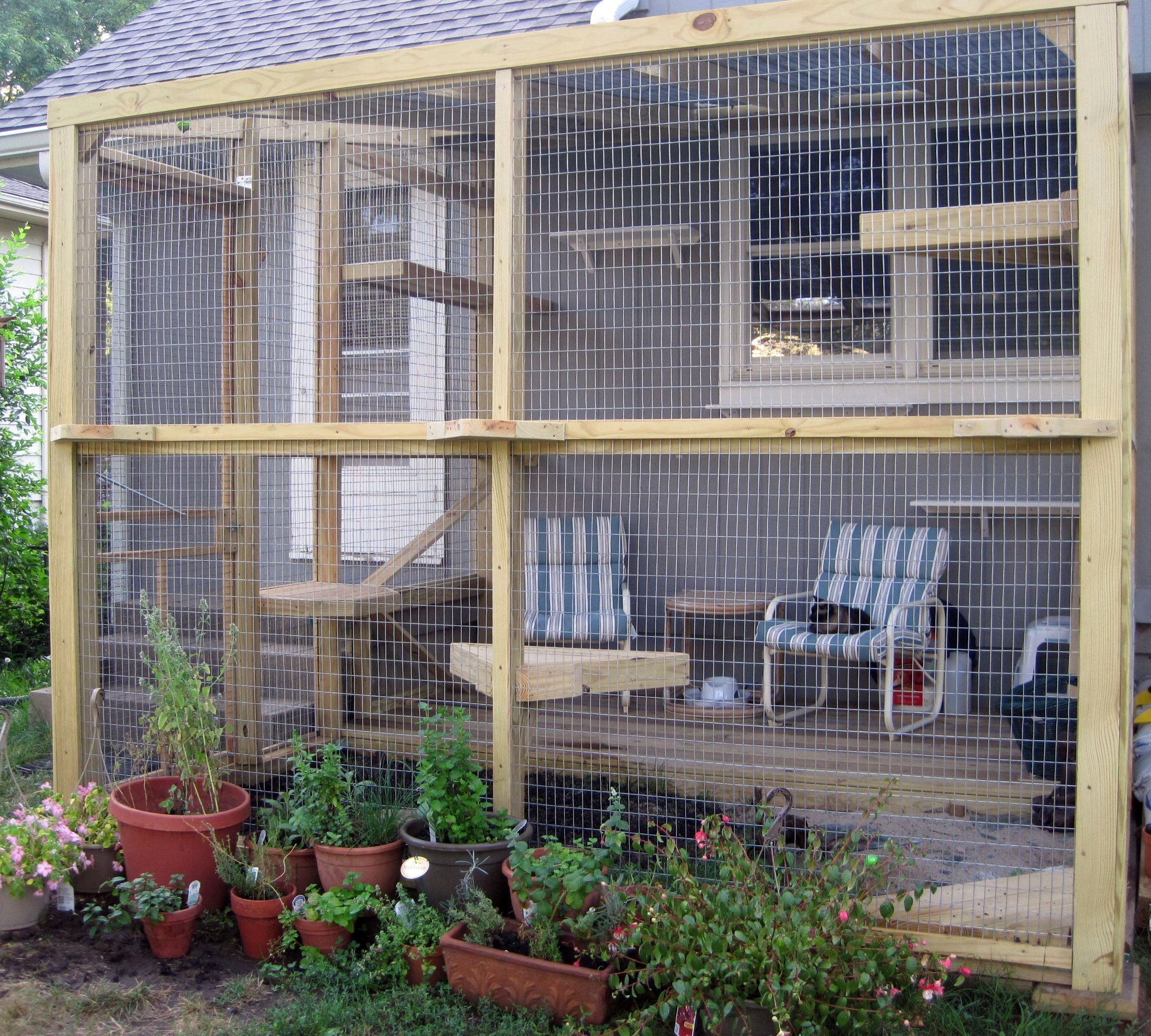 catio our cat 39 s outdoor happy place catio pinterest