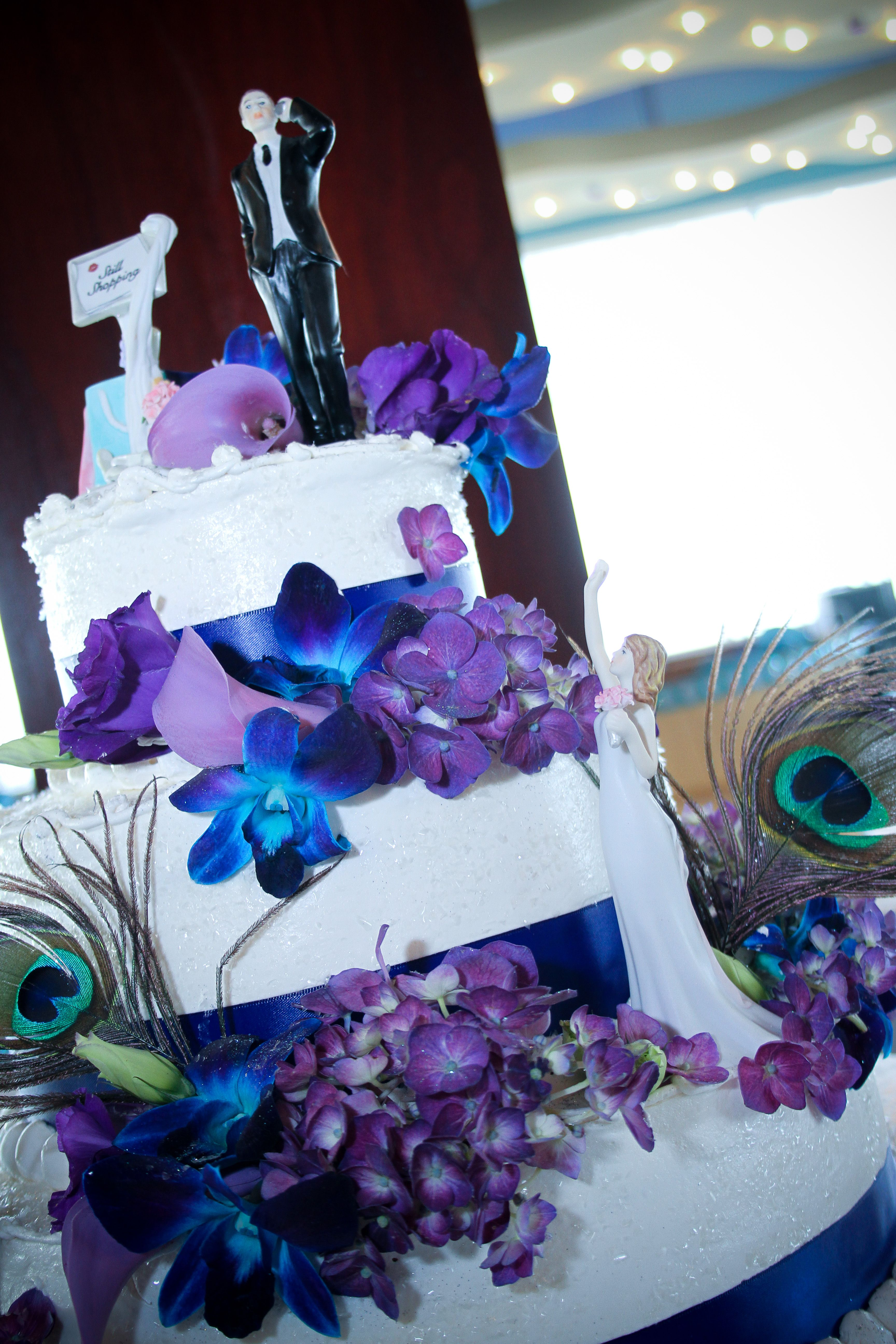Peacock wedding cake Wedding