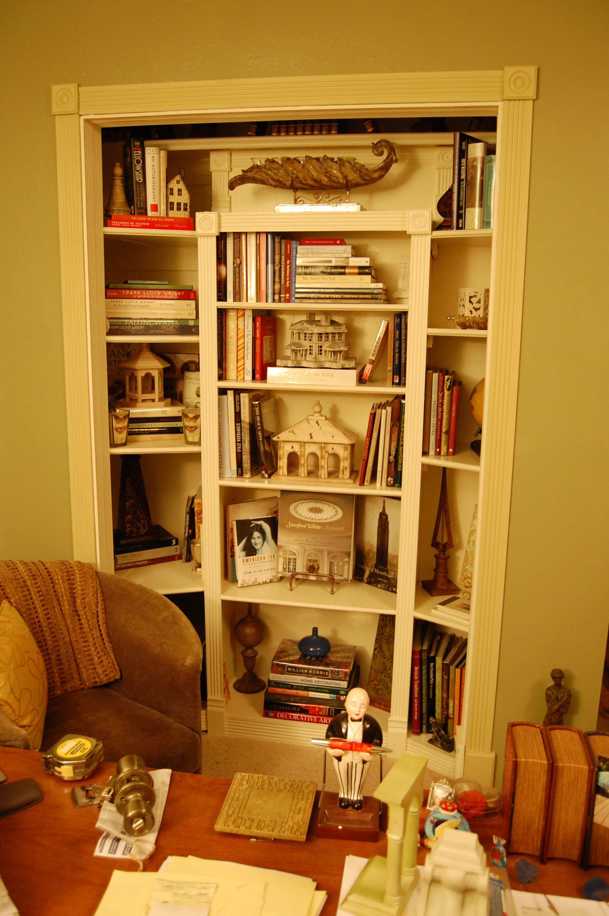 my closet conversion in my office bookish things