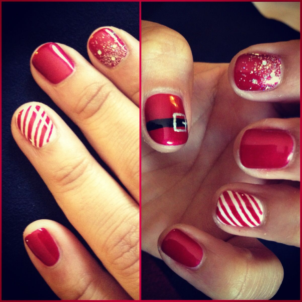 Christmas nails using shellac by Natalie | NAILS I LOVE THEM!!!! | Pi