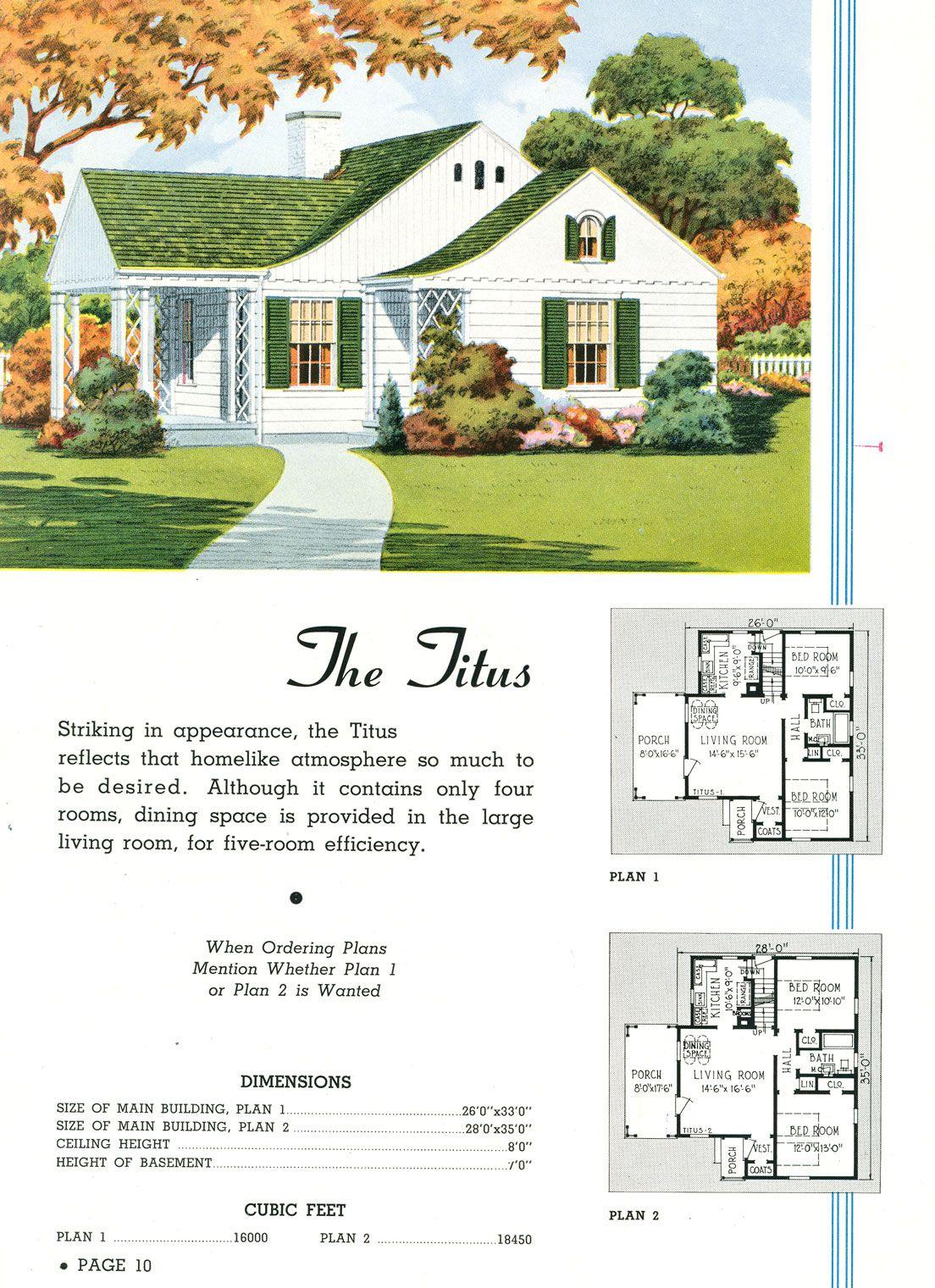 1920 39 S Vintage House Plans Pinterest
