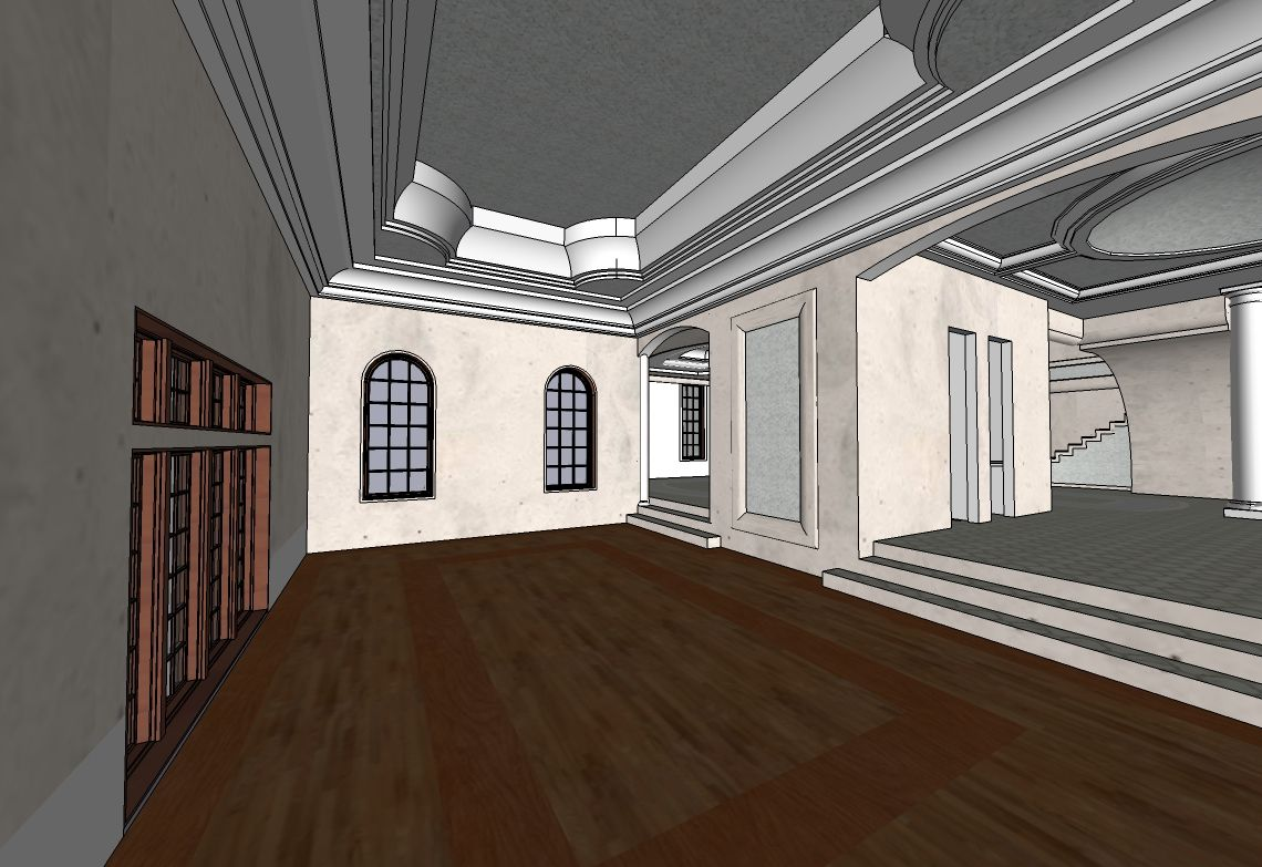 Living Room Sketchup Concept Buildings Rooms Pinterest