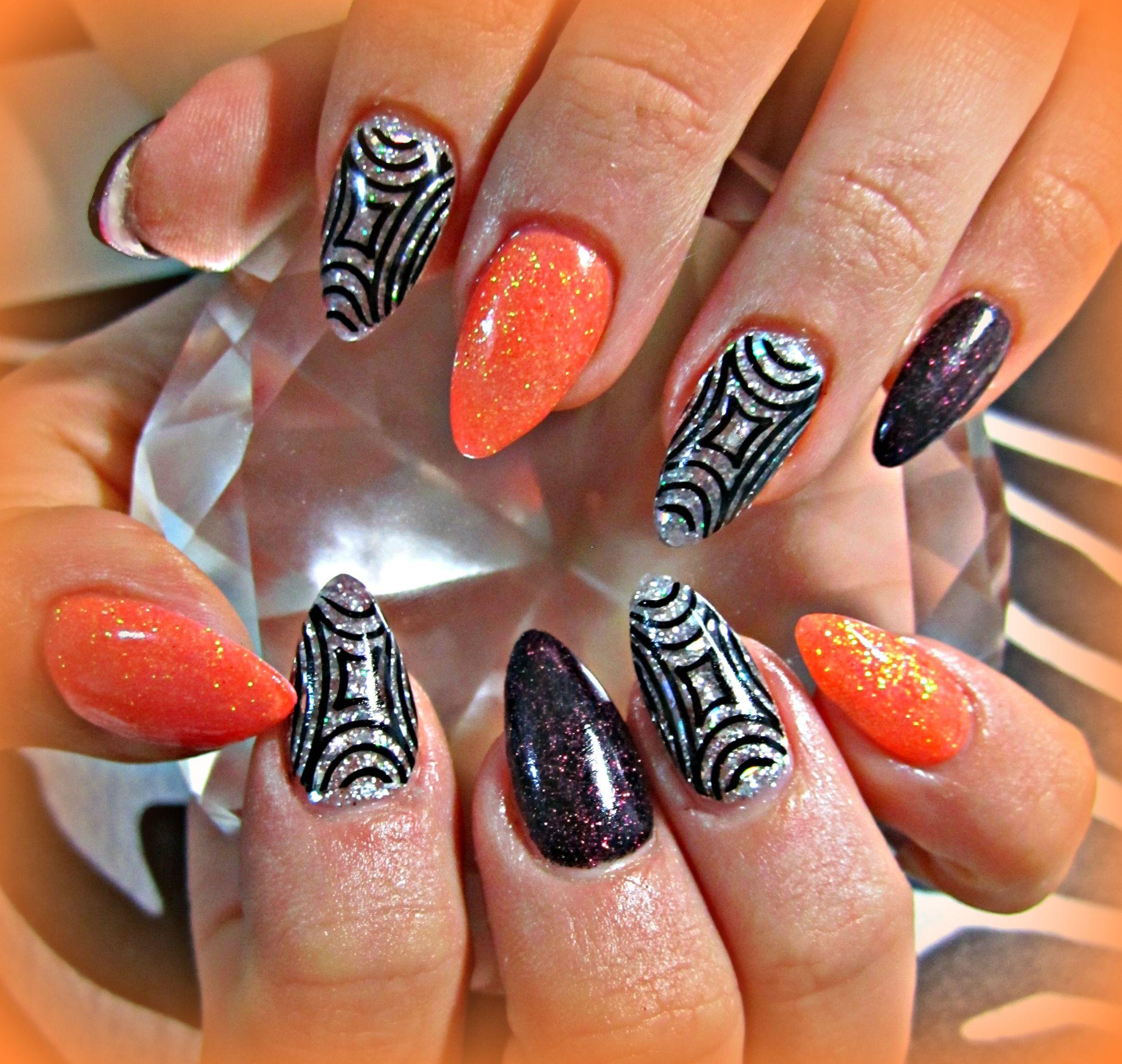 Almond-Shaped Acrylic Nails