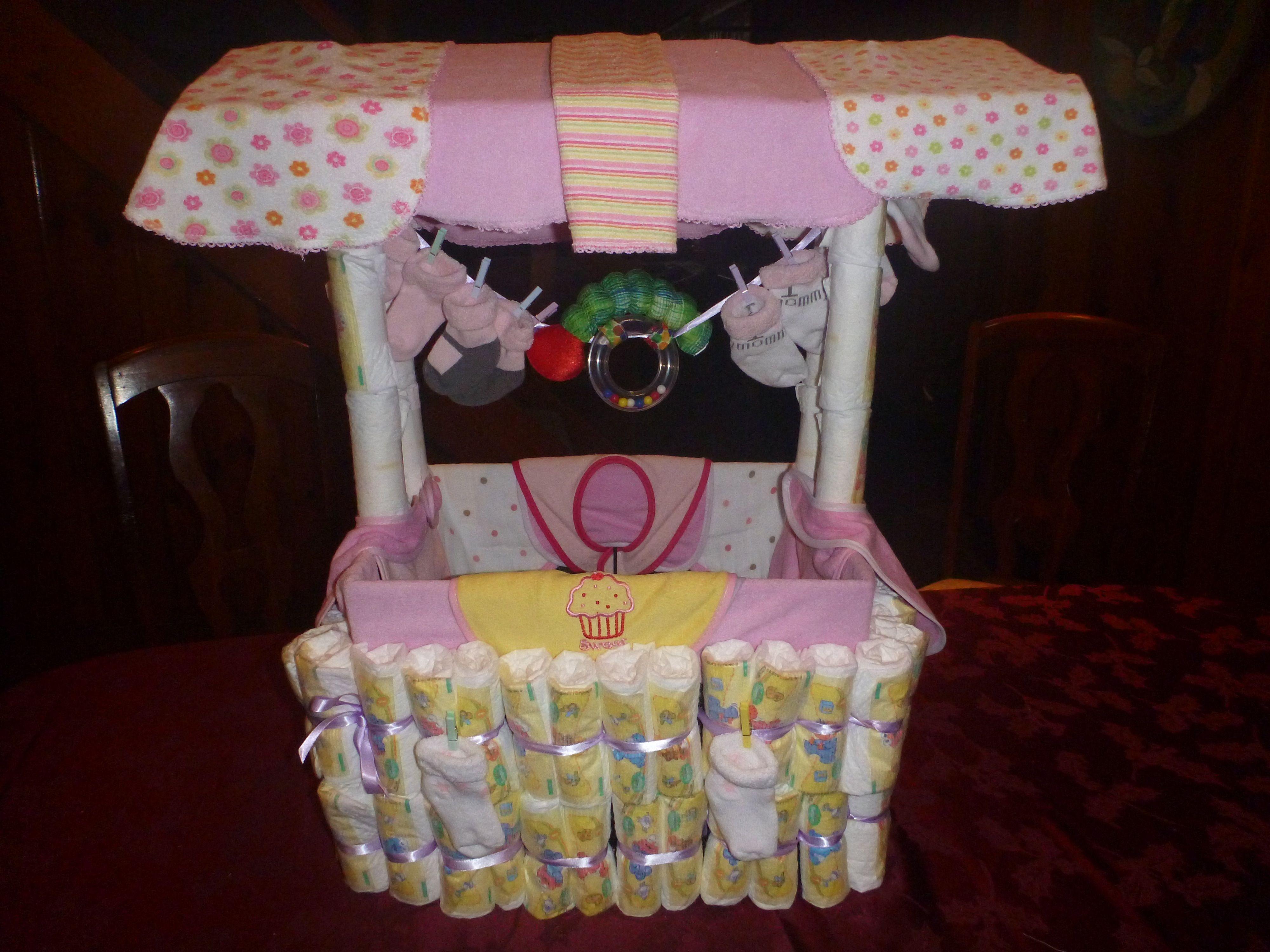 diaper wishing well baby showers stuff pinterest