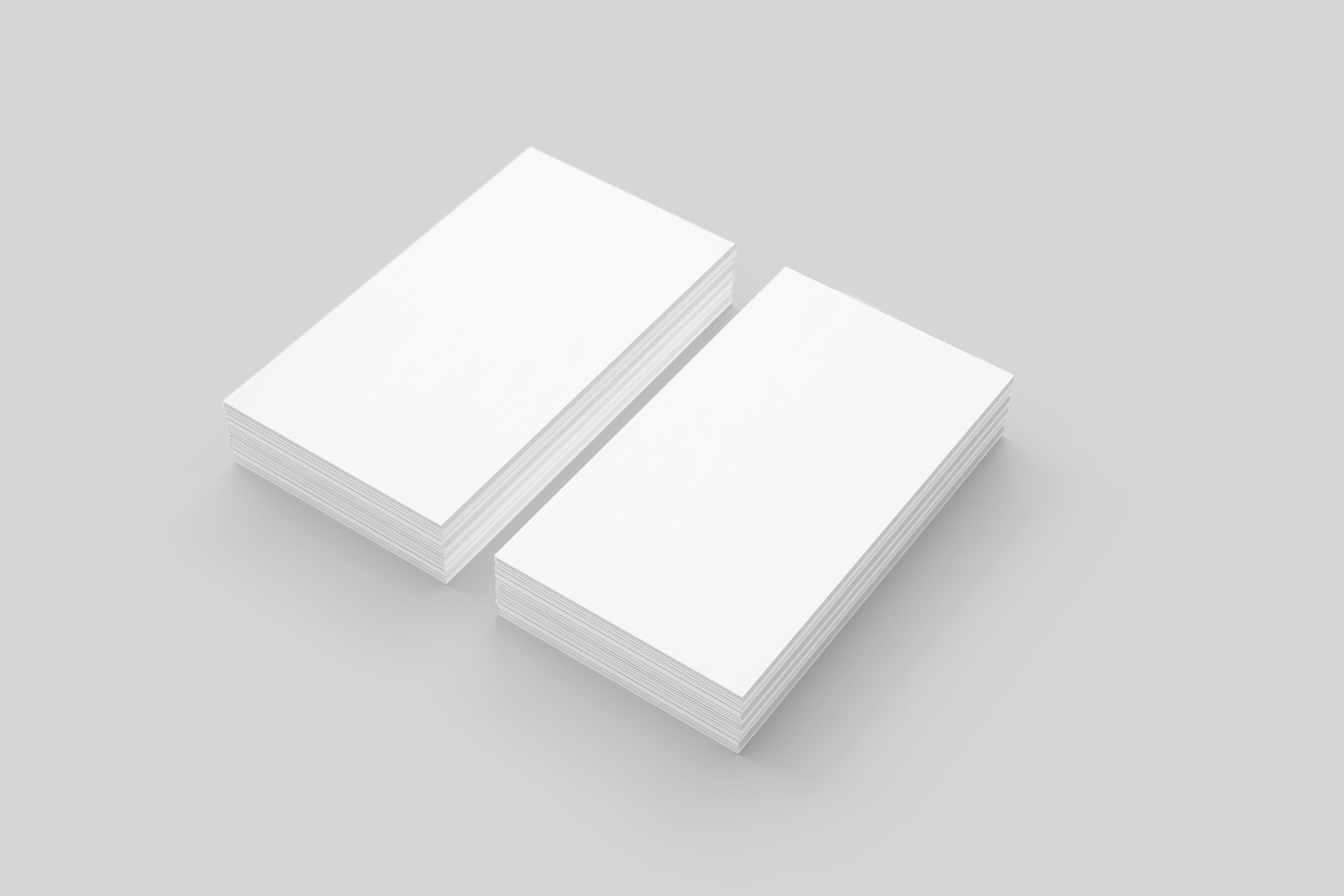 Business cards mock up blank packaging templates for Business card blank